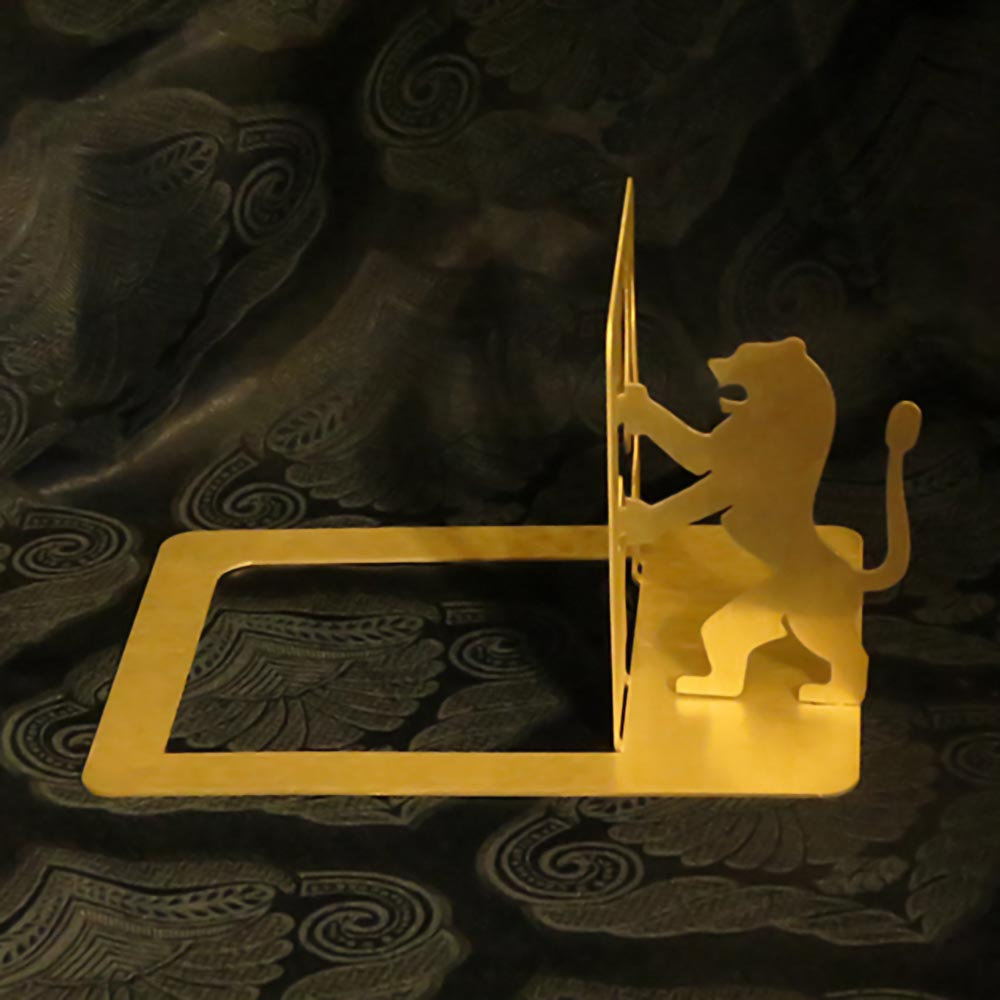 Judaica Book Holder Lion Yehuda