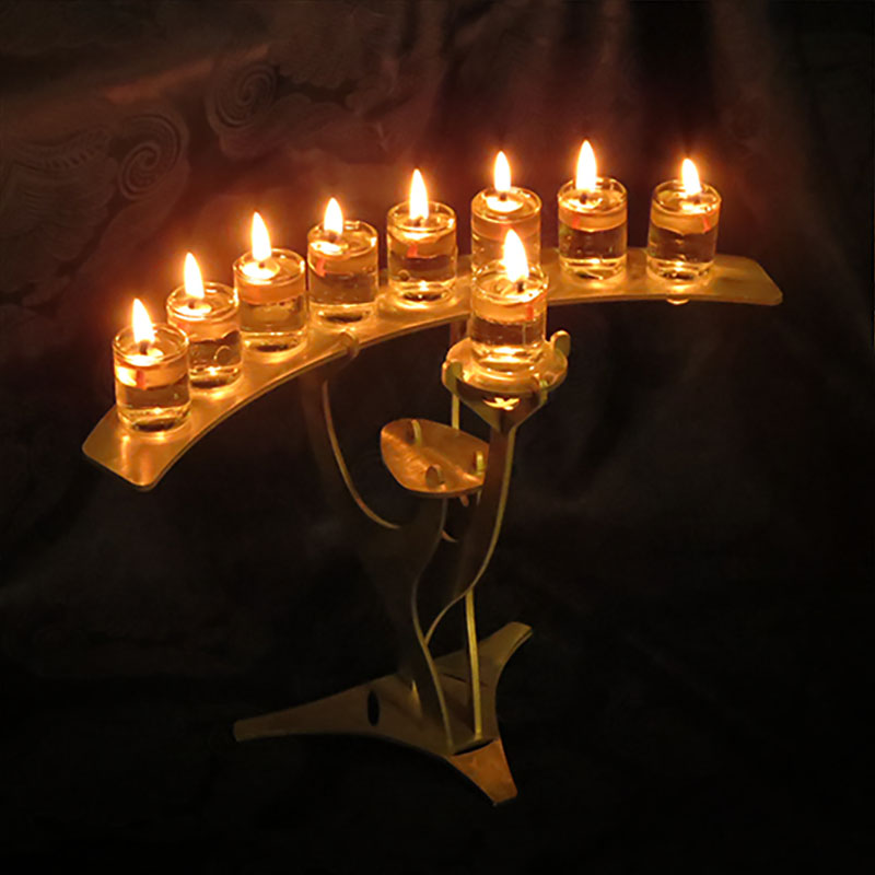 Beautiful Arched Hanukkah Menorahs