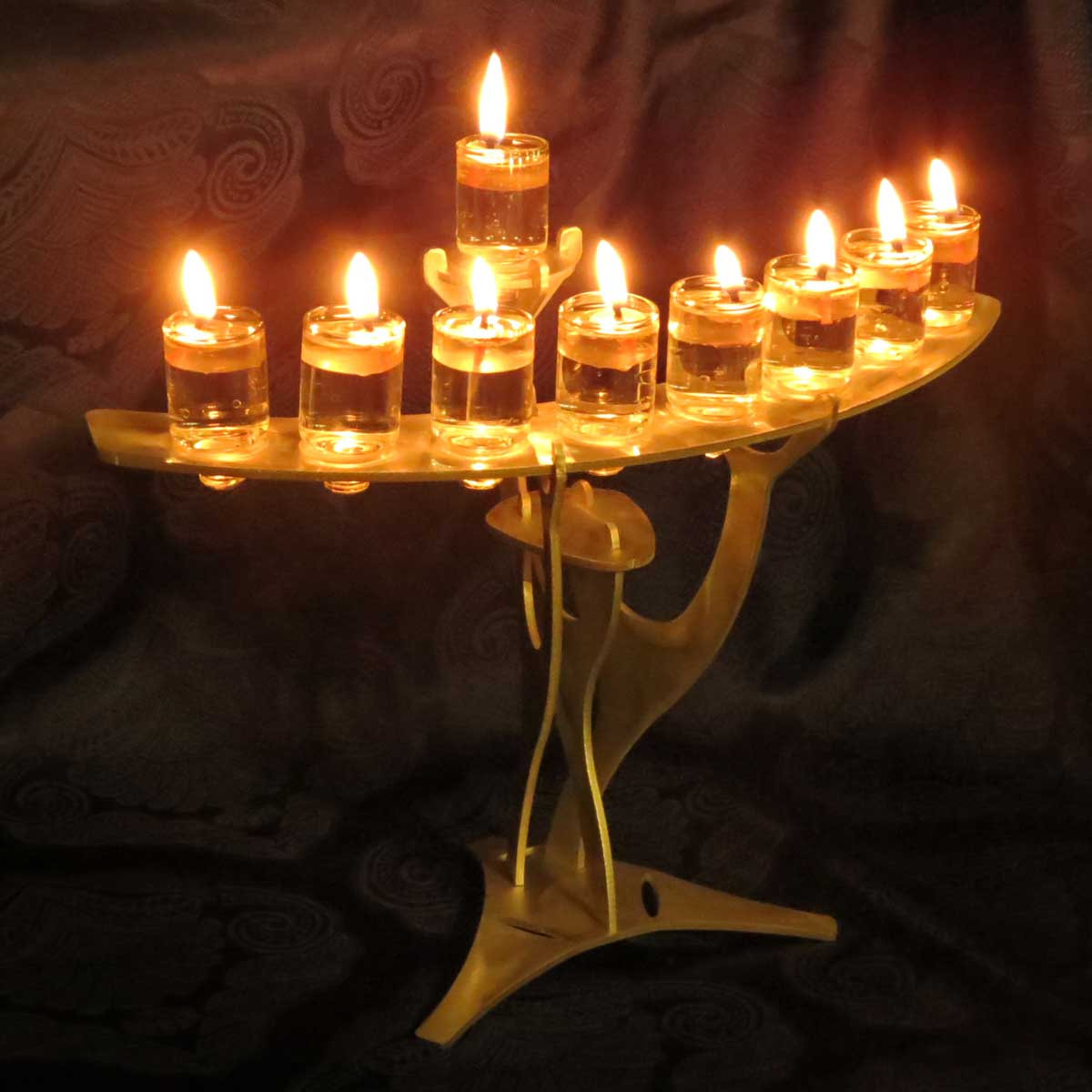 Beautiful Arched Hanukkah Menorahs