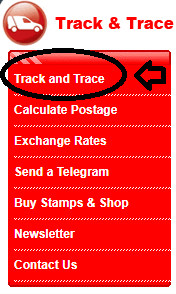 Tracking and Tracing your Shipment with Israeli Postal service Website step2