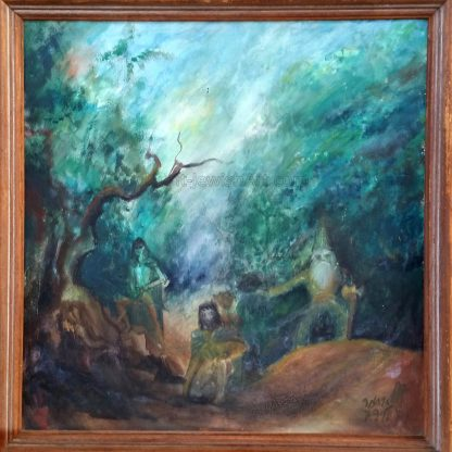 Fangorn Forest – Painting by Itamar Galili - Oil based paints on Canvas.